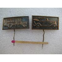 """Значки. Автомобили. """"А-6"""" - 1928г., """"ГАЗ-А"""" - 1932г. тяжёлые. цена за 1 шт."""