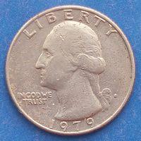 25 центов 1979 СШA медно-никелевый сплав