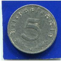 Германия 5 пфеннигов 1940 J