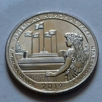 25 центов, квотер США, мемориальный парк Северные Марианские острова