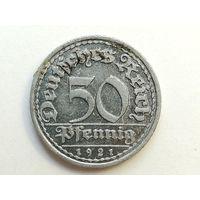 50 пфеннигов 1921 год. Монета А2-6-5