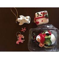 Новогодние игрушки из керамики/фарфора