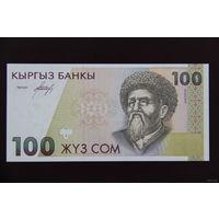 Киргизия 100 сом 1994 года UNC