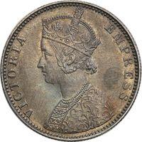 1 рупия, Индия, 1892 год, серебро