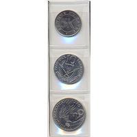 Заир комплект монет (3 шт.) 1976-1978гг. скидки.