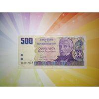 Аргентина 500 песо 1983 - 85гг