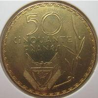 Руанда 50 франков 1977 г. В холдере (gk)