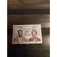 1962 Камерун президент Ахиджо и премьер министр Фонча дорогая (2-7)