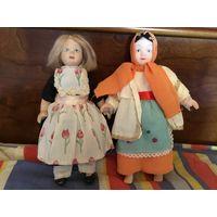 Кукла Коллекционная в национальных костюмах Фарфор  Англия 2 шт