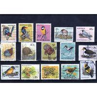 Австралия. Фауна.Птицы,Лягушки.Сборный лот 15 марок.
