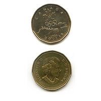 """КАНАДА """"ЗОЛОТОЙ"""" доллар 2004 ОЛИМПИАДА UNC"""
