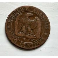 """Франция 5 сантимов, 1862 """"K"""" - Бордо 2-8-4"""