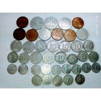 40 монет ГДР с рубля .