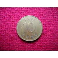 Южная Корея 10 вон 1991 г