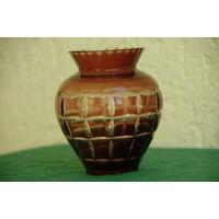 Ваза  ( вазочка ) стекло из СССР   11 см   целая