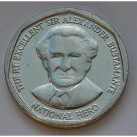 Ямайка 1 доллар, 2012 г. (Форма круг).