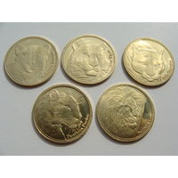 "Сомалиленд. 5 шиллингов 2017 год набор из 5 монет ""Кошки"" Новинка!!!"