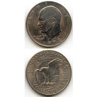 США 1 доллар 1972 г. (Буква D, USA, Америка)