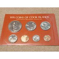 Острова Кука НАБОР 7 монет 1974 в буклете UNC