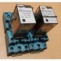Реле Finder 55.33.8.230.0000 10A 250V промежуточное с колодкой