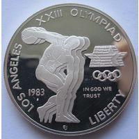 США 1 доллар 1983 XXIII летние Олимпийские Игры - Дискобол отметка монетного двора S - Сан-Франциско - серебро