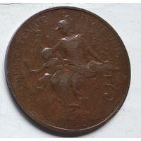 Франция 5 сантимов, 1899 3-12-8