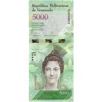 Венесуэла, 5 000 боливаров, 2016 г., UNC