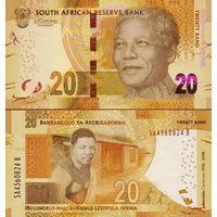 ЮАР. Южная Африка 20 рэндов  2018  год  UNC   (новинка)