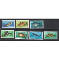 Албания Рыбы 1967 год чистая полная серия из 7-ми марок