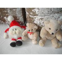 Мягкая игрушка винтаж Снеговик 27 см Германия