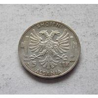 Албания 5 лек 1939 (оккупация Италией)