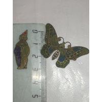 Сборный лот значков клоун и бабочка