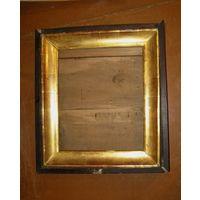 Старинный киот под икону Золочение Габариты 54х48 БОЛЬШОЙ. Требует реставрации