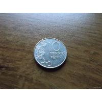 Финляндия 10 пенни 1991