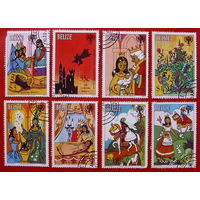 Белиз. Сказки. ( 8 марок ) 1980 года.