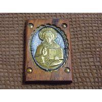 Старинная иконка из дерева и металла