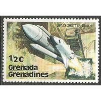 Гренада Гренадины. Старт корабля Шатл. 1978г. Mi#253.