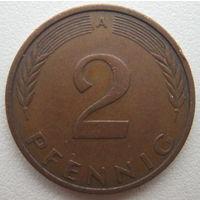 Германия 2 пфеннига 1992 (A) г.