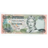 50 центов Багамских островов 2001 года   . UNC!-ПРЕСС!