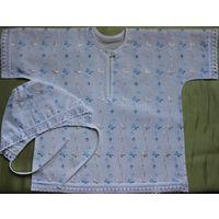 Рубашка набор для крещения 74-80 рост