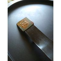 Ремень школьный СССР 50 гг., латунная пряжка, длина 98 см., без дефектов