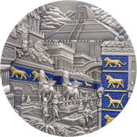 """Палау 10 долларов 2021г. """"Вавилон - Затерянные цивилизации"""". Монета в капсуле; подарочном футляре; номерной сертификат, коробка. СЕРЕБРО 62,20гр.(2 oz)."""
