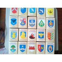 Спичечные коробки  гербы городов республики Беларусь. шрифт тонкий Цена за все