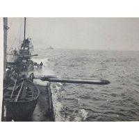 Выстрел торпеды военный корабль Германия  1 Мировая война