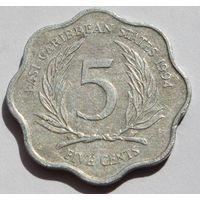 Восточные Карибы 5 центов, 1994 г.