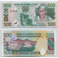 Распродажа коллекции. Сьерра-Леоне. 500 леоне 1998 года (P-23b - 1995-2007 Issues)