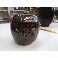 Бочонок для меда керамический 8*8 см