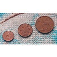 Норвегия 1, 2, 5 оре (центов) 1961-71 гг.. UNC. Белка, Глухарь, Лось. Король Улаф V. Страна Рагнара Ломброка. Инвестируй в монеты планеты!