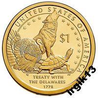 1 доллар 2013 года. Делаверский договор. США