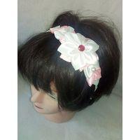 Обруч для волос цветок канзаши 2